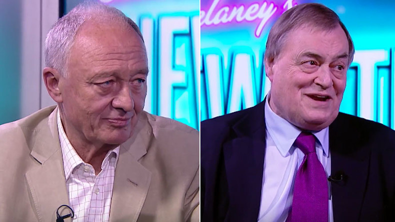 John Prescott to probe ex-London Mayor Ken Livingstone as guest host of RT's News Thing