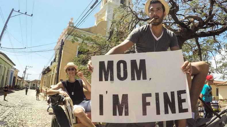 'Mom, I'm fine': Traveler gets Instagram account to reassure his family