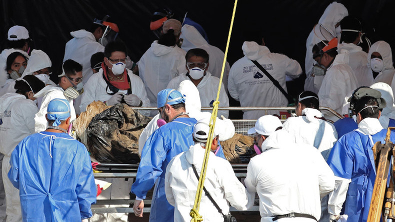 117 cadavers, including fetus & 2 children, exhumed from Mexican mass grave used by authorities