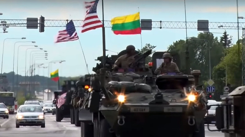US forces rumble across Lithuania to large-scale Baltic NATO drills (VIDEO)