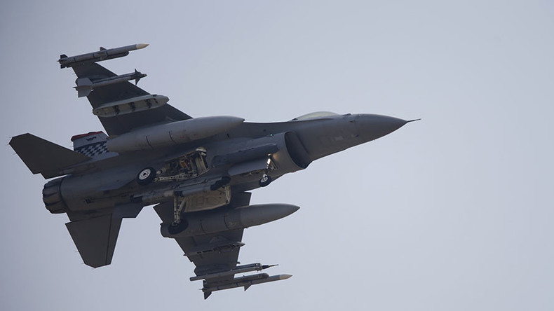 F-16 jets collide in mid-air over Georgia, pilots eject