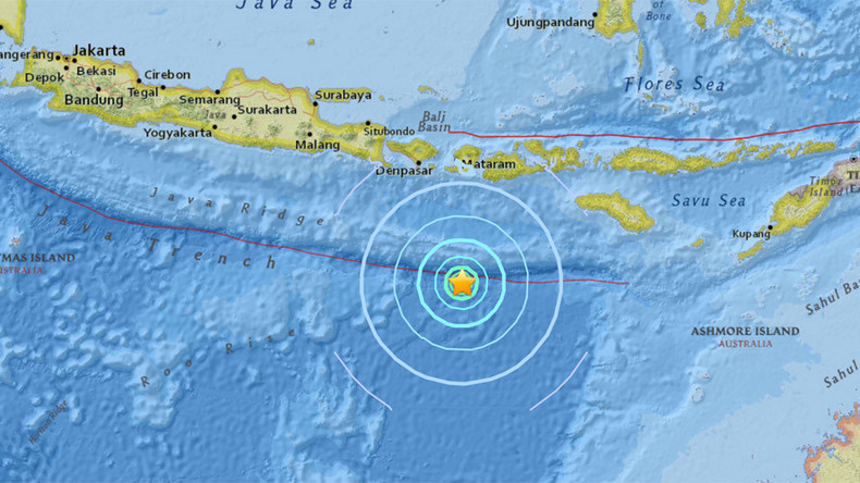 6.2 quake strikes Indonesia off Lombok coast