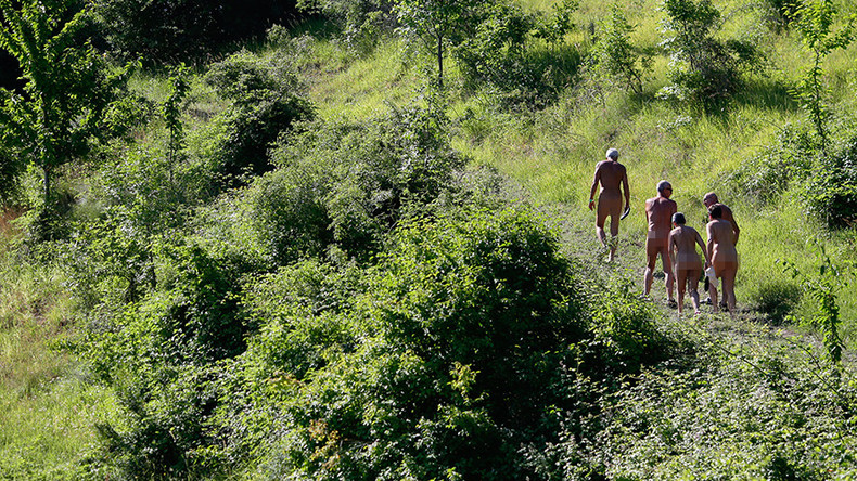 Naked  Afraid German Nudist Colony Protests Refugee -9480
