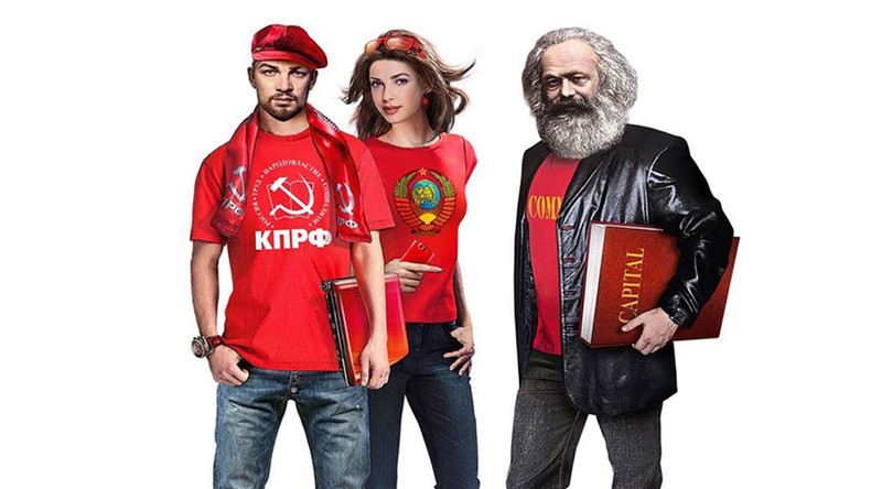 Sexy Lenin & e-smoking Stalin spearhead Russian Communist Party election drive (IMAGES)