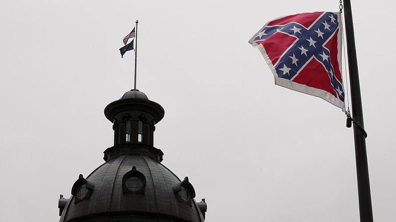 Cop sues police department after posing in Confederate underwear