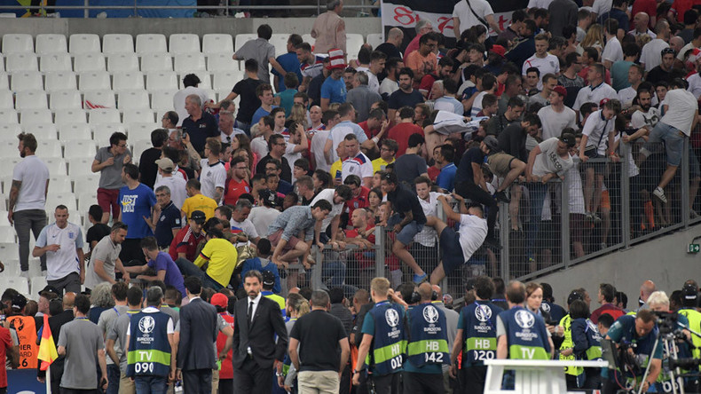UEFA to sanction Russia over stadium violence, threatens disqualification for English, Russian teams
