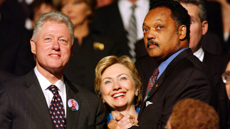 Jesse Jackson endorses Clinton despite controversial civil rights record