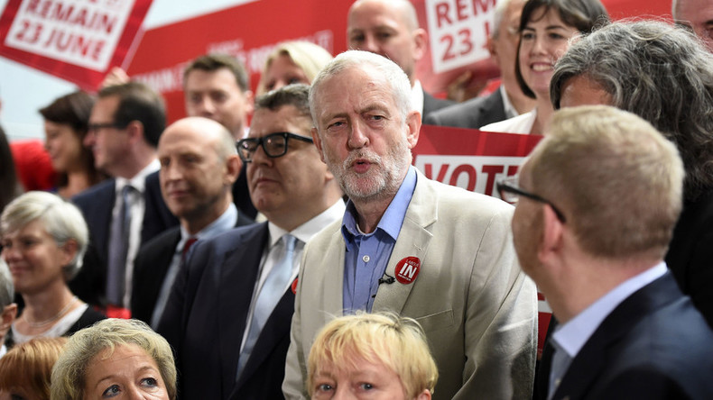 Jeremy Corbyn urges Labour to back 'Remain', despite own EU doubts
