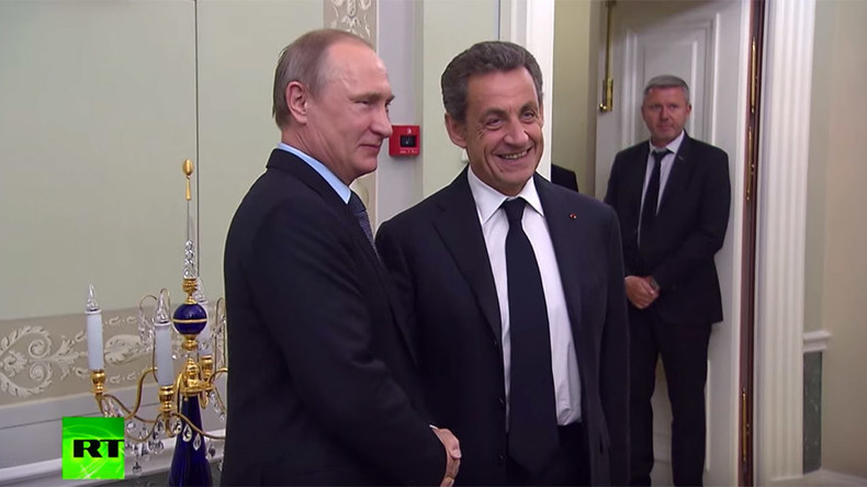 'You can now speak with frankness': Putin welcomes former French leader Sarkozy in St. Petersburg