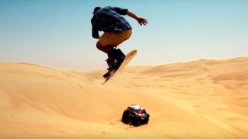 Dune shredder: Snowboarder tears up desert with Dakar rally speedster (VIDEO)