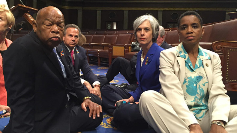 House Dems stage a sit-in demanding vote on gun legislation