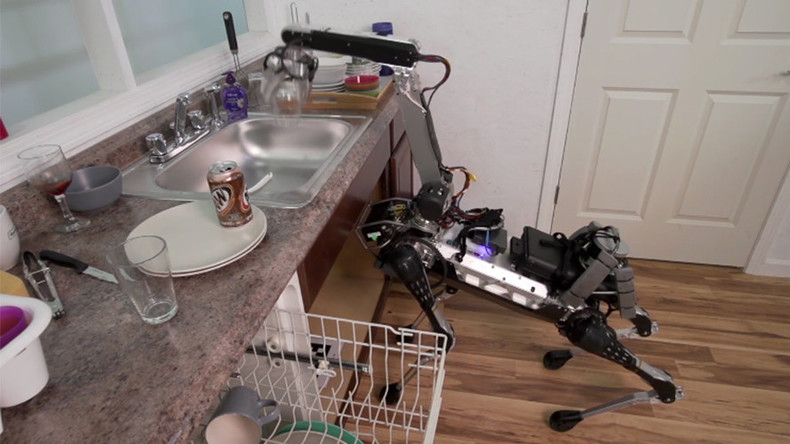 'Doggie droid' does dishes, climbs stairs - but don't ask it for a drink (VIDEO)