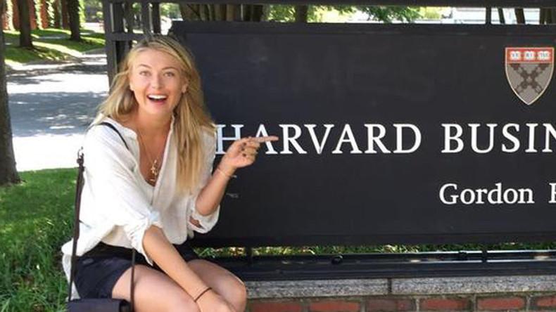 Maria Sharapova enrolls at Harvard