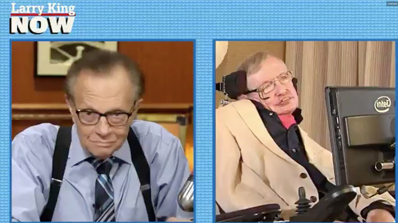 People, ever more greedy and stupid, destroy the world - Stephen Hawking to Larry King