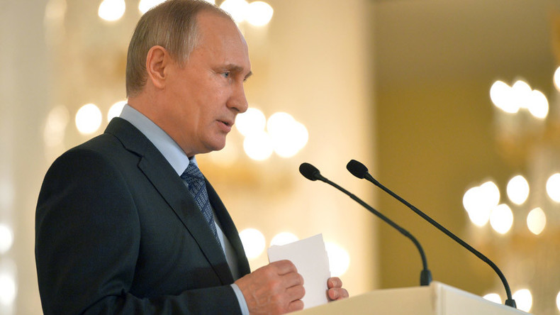 Putin promises response to foreign pressure by strengthening Russian military forces