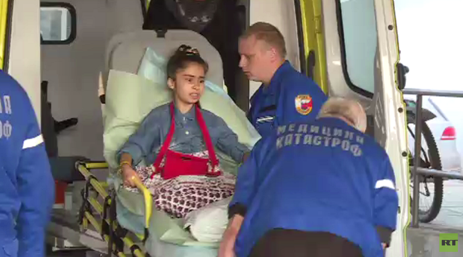 10-yo Syrian girl to be operated on in Moscow after losing legs in Aleppo terrorist attack