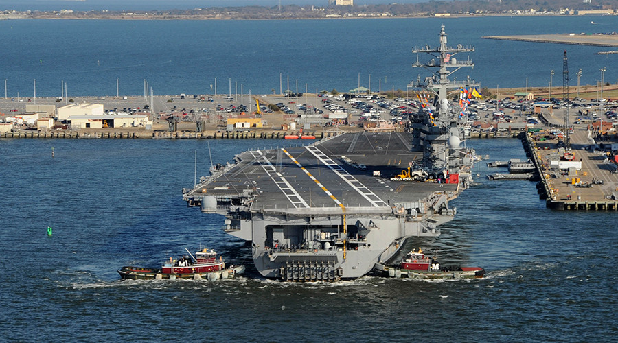 Stepping Up The Fight US Navy Aircraft Carrier Heads To Middle - Us battles on map middle east