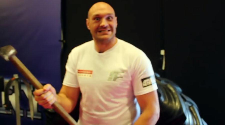 Tyson Fury threatens Klitschko with an axe (VIDEO)