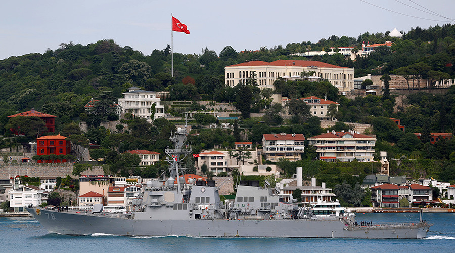 Guided missile destroyer USS Porter enters Black Sea 'to promote peace' (VIDEO)