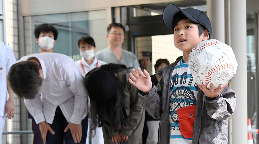 Abandoned Japanese boy admits he couldn't stop crying after parents drove away