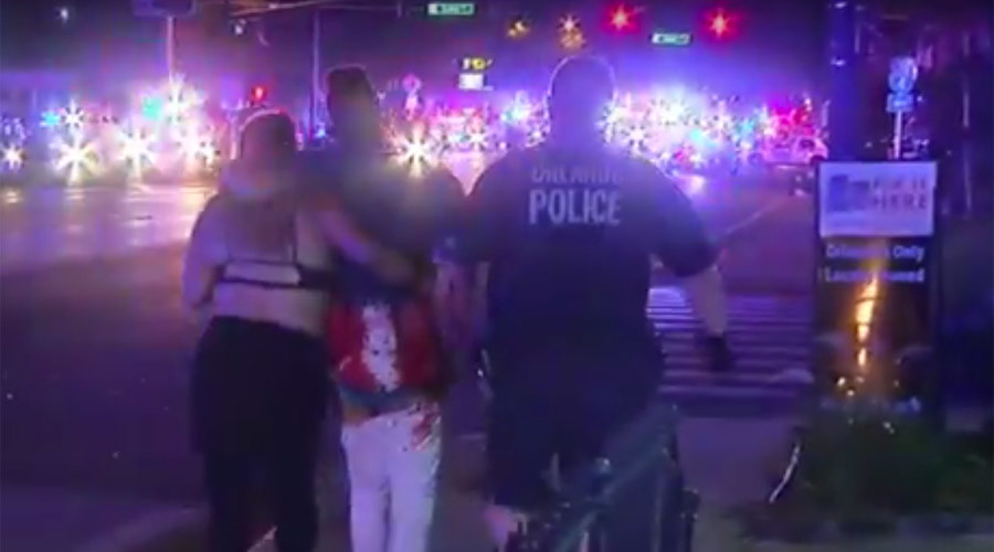 Shooting victims in Orlando gay club carried from the scene (GRAPHIC VIDEO)