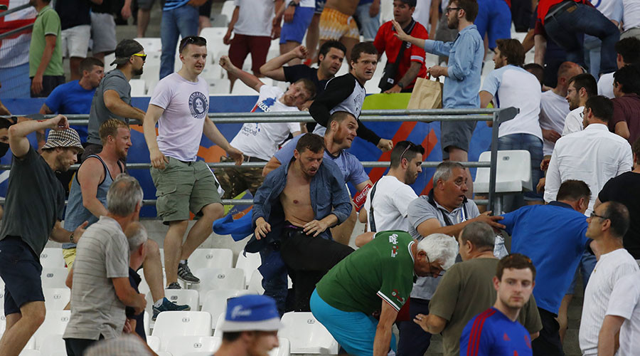 Russian fans jailed for up to 2 years in France over Euro 2016 violence