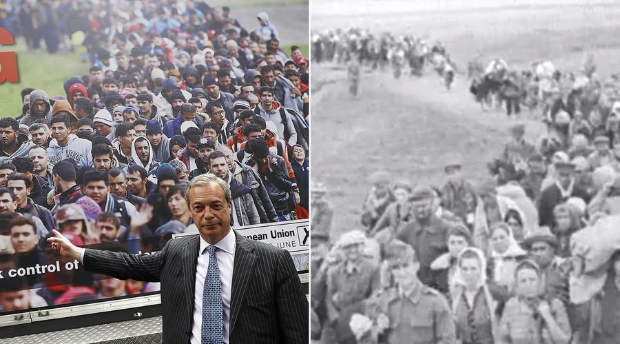 UKIP's Brexit refugee poster bears striking similarity to Nazi propaganda film