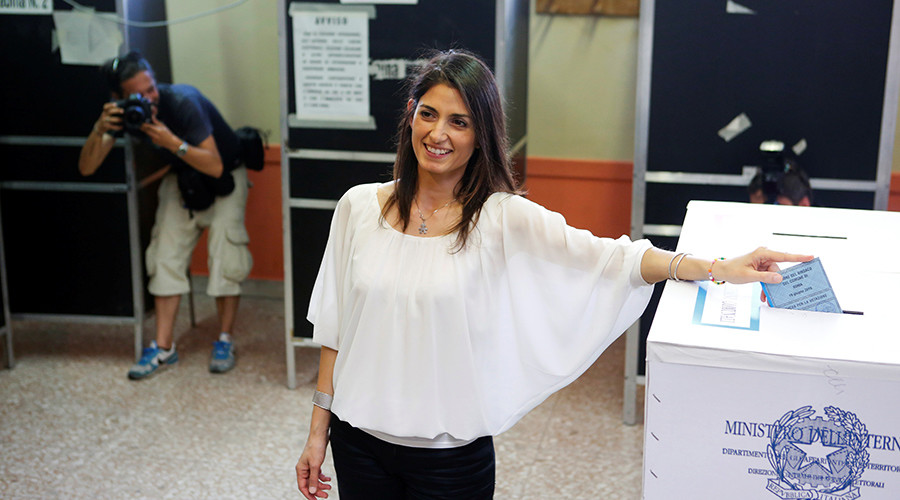 Italy's eurosceptic party scores big wins in Rome, Turin mayoral elections