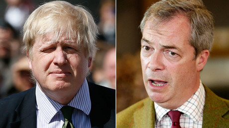 Former London Mayor Boris Johnson and UKIP party leader Nigel Farage © Reuters