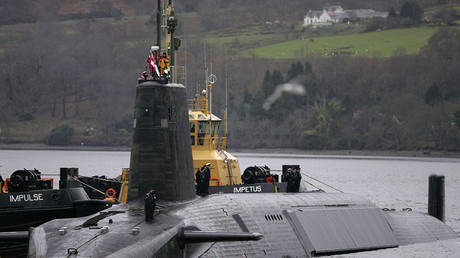 HMS Vengeance, a British Royal Navy Vanguard class Trident Ballistic Missile Submarine. © David Moir