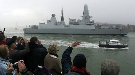 Type 45 stealth destroyer HMS Daring. ©Luke MacGregor