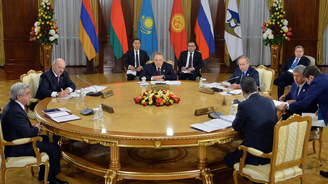 May 31, 2016. A restricted meeting of the Supreme Eurasian Economic Council at the level of heads of state in Astana. © Alexei Druzhinin