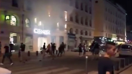WATCH: England fans clash with police in London following Euro 2020 victory over Ukraine