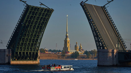 Palace Bridge in Saint Petersburg, Russia © Alexey Danichev