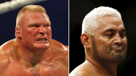 Brock Lesnar and  Mark Hunt © AFP Photo / Reuters