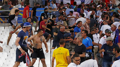 Marseille mayhem: Russia fans break into English sector, violence erupts after Euro 2016 draw