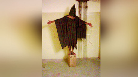 This Iraqi prisoner in Abu Ghraib was tortured by the CIA and US Army. © Wikipedia