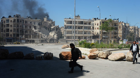 Militants shell a district in Aleppo. © Mikhail Voskresenskiy