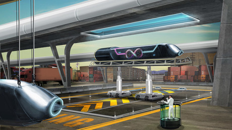 Pod in dock © hyperloop-one.com