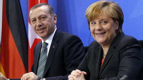 German Chancellor Angela Merkel and Turkey's President Tayyip Erdogan © Tobias Schwarz