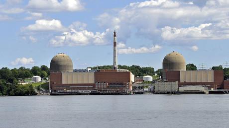 Entergy's Indian Point Energy Center (IPEC) seen from across the Hudson River, Buchanan, New York. © Tony