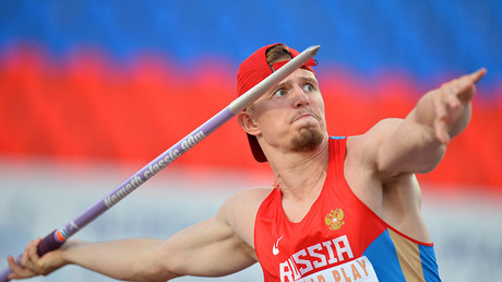 Valery Iordan during the men's javelin throw © Maksim Bogodvid