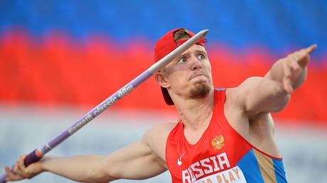 Valery Iordan during the men's javelin throw © Maksim Bogodvid