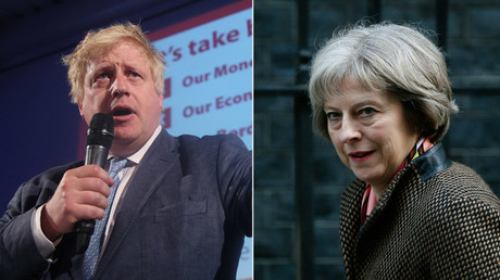 Former mayor of London Boris Johnson  and Britain's Home Secretary, Theresa May © Reuters
