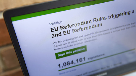 Online petition not enough for 2nd #Brexit referendum in UK – Electoral Commission