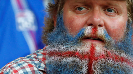 A football fan at EURO 2016 - England v Iceland - France © Kai Pfaffenbach