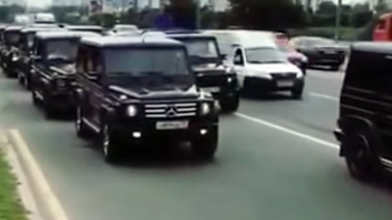 Moscow Secret Police Grads Stage Luxury Car Parade Prompt Storm