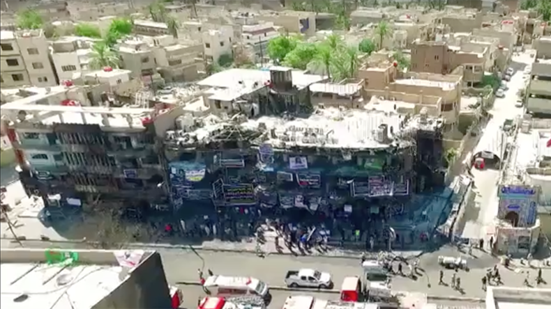 Drone shows terrible impact of Baghdad blast that killed 250 (VIDEO)