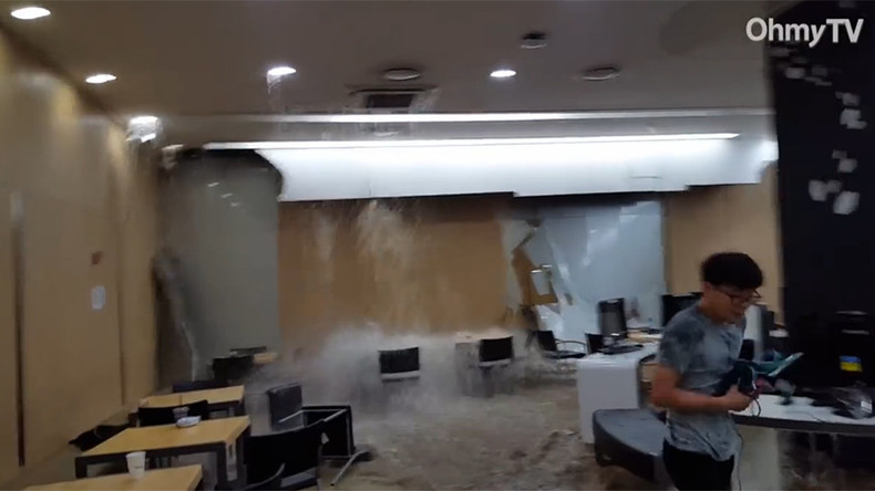 Extreme learning conditions: Waterfall crashes into college classroom (VIDEO)