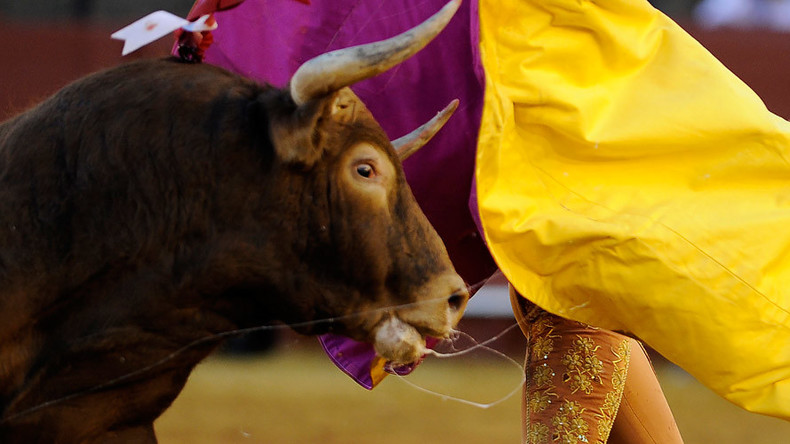 Spanish bullfighter gored to death in ring first time in over 20 years